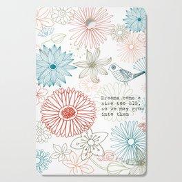 Floral dreams Cutting Board