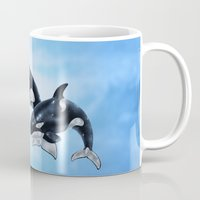 orca Mugs featuring Orca by vervex