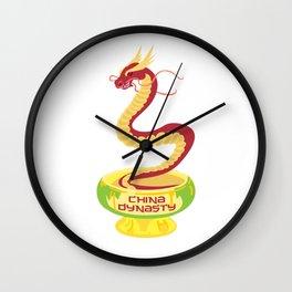 China Dynasty Dragon Wall Clock