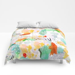 toto: abstract painting Comforters