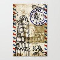italy Canvas Prints featuring italy by Natasha79