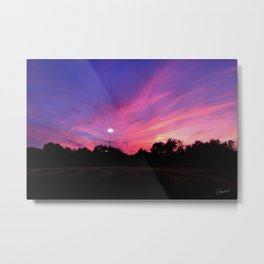 Angels in the Outfield Sunset Metal Print