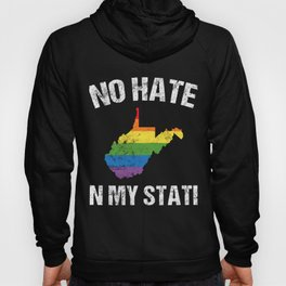 LGBT Support Gift West Virginia Ally Gay Pride Month Statement Merch Hoody