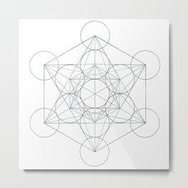 Metatron's Cube Metal Print