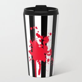 Black and White and Red All Over Travel Mug