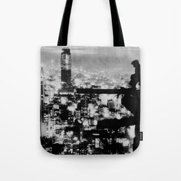New Yorker Sitting On A Ledge Tote Bag