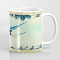 plain Mugs featuring Plain / Plane by Amiee Groundwater