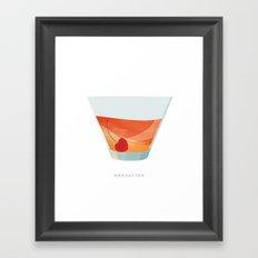 Cocktail Hour: Manhattan Framed Art Print