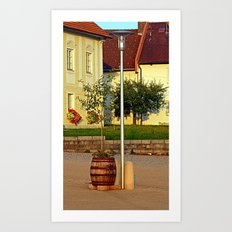 Tree in apple wine barrel | conceptual photography Art Print