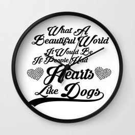 Heart Like Dogs Wall Clock