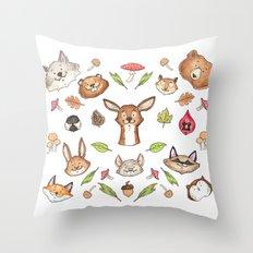 Woodland Kaleidoscope Throw Pillow
