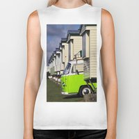 vw bus Biker Tanks featuring Vdub VW Bus by Rainer Steinke