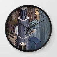 metropolis Wall Clocks featuring Metropolis by Soak