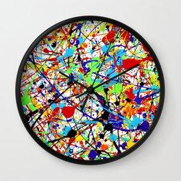 Splat! 1 (Rainbow) Wall Clock