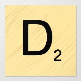 Scrabble D Decor, Scrabble Art, Large Scrabble Prints, Word Art, Accessories, Apparel, Home Decor Canvas Print