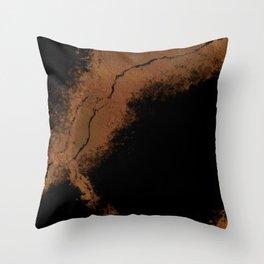 Crack of Gold Throw Pillow