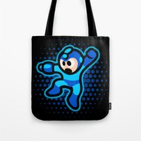 megaman Tote Bags featuring Megaman by likelikes