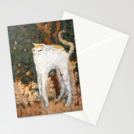 Pierre Bonnard - The White Cat / Le Chat Blanc Stationery Cards
