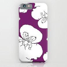 Purple Pansies Slim Case iPhone 6s