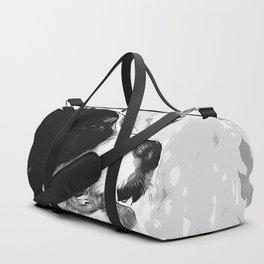 bernese mountain dog vector art black white Duffle Bag
