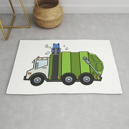 Recycle Truck Rug