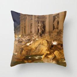 Trevi Fountain - Rome, Italy Throw Pillow