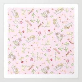 Pink Garden Art Print