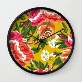Bageecha || #illustration #botanical #pattern Wall Clock