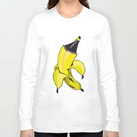 banana Long Sleeve T-shirts featuring Banana  by Gaby Yerden