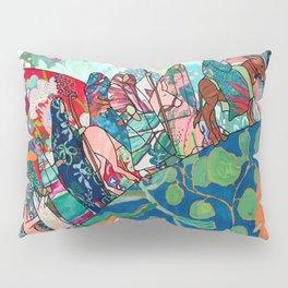 Floral Migrant Quilt Pillow Sham