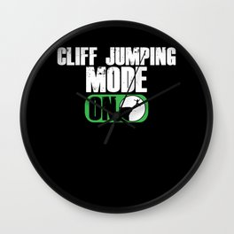 Cliff Jumping Mode On Cliff Jump Cliff Diving Gift Wall Clock