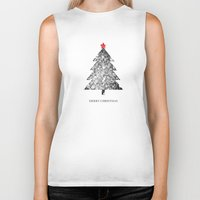 merry christmas Biker Tanks featuring Merry Christmas by Zach Terrell