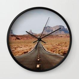 Desert Road Trip V Wall Clock