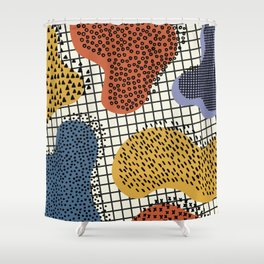 Colorful Notebook II Shower Curtain