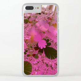Walking across a dream meadow Clear iPhone Case
