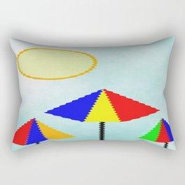 Sunny Days At The Beach Rectangular Pillow