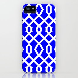 Grille No. 3 -- Blue iPhone Case