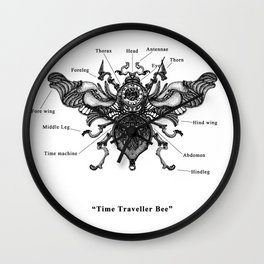 "Mechanical Mistake series "" Time Traveller Bee"" Wall Clock"