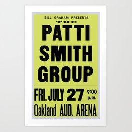 The Patti Smith Group Concert Poster 1979 Art Print