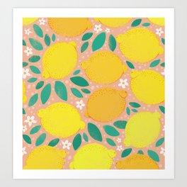 Meyer Lemons Art Print
