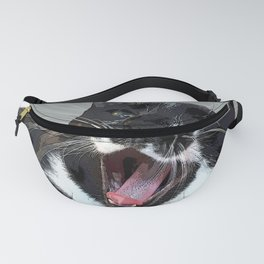 A yawn Cat.    cats, cat, yawn, pattern, pet, feline, animals, Society6. Fanny Pack