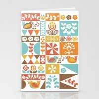 mid century Stationery Cards featuring Mid-Century Geometrics & Florals by Christine Witte