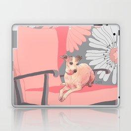 Dog in a chair #3 Italian Greyhound Laptop & iPad Skin