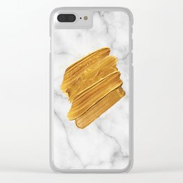Gold on Marble Clear iPhone Case