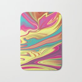 Multi-colored waves Bath Mat