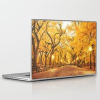 literary Laptop & iPad Skins featuring New York City Autumn by Vivienne Gucwa