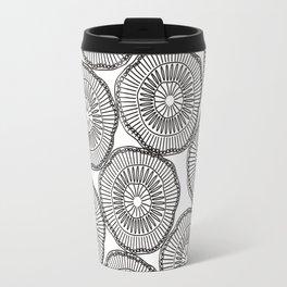Black white Kiwi doodles Travel Mug