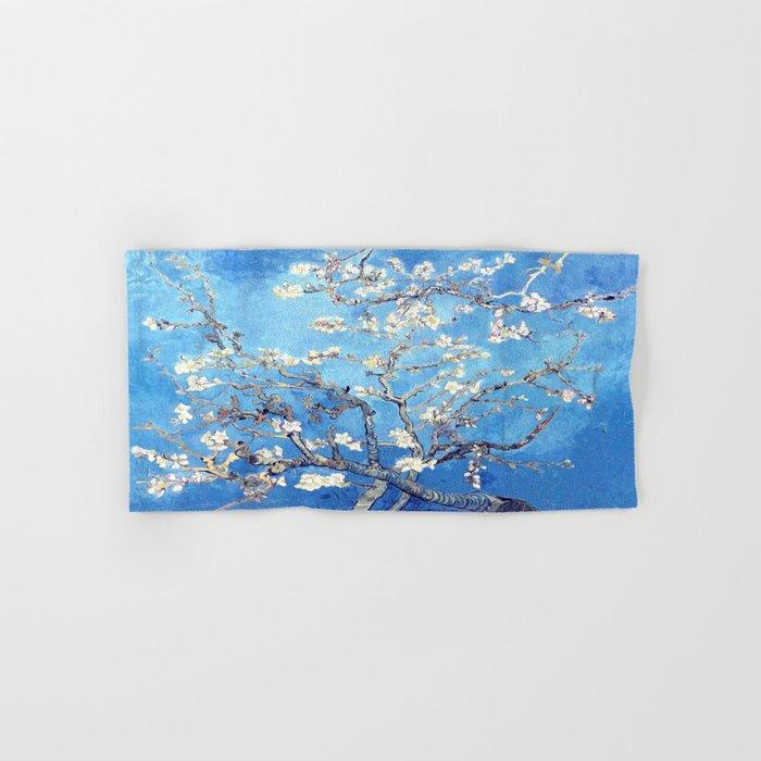 Vincent Van Gogh Almond Blossoms. Sky Blue Hand & Bath Towel
