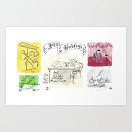 Joys of the Holidays Art Print
