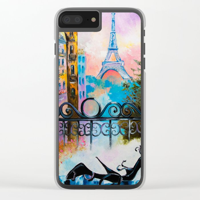 Romantic date in Paris Clear iPhone Case